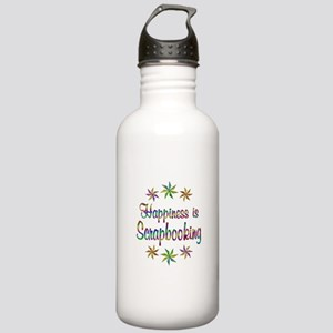 Happiness is Scrapbook Stainless Water Bottle 1.0L