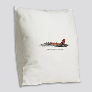 4wing Burlap Throw Pillow