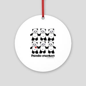 Panda-monium Ornament (Round)