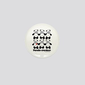 Panda-monium Mini Button