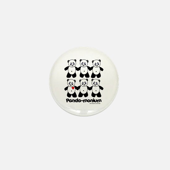 Panda-monium Mini Button