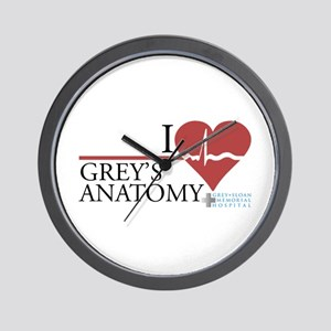 I Heart Grey's Anatomy Wall Clock
