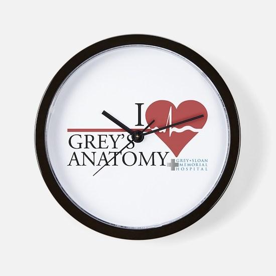 I Heart Grey's Anatomy Wall Clock