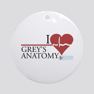I Heart Grey's Anatomy Round Ornament