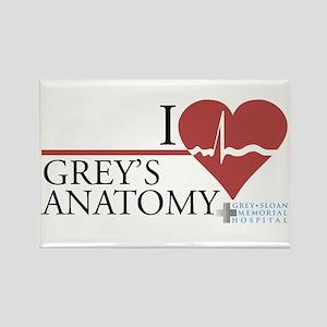 I Heart Grey's Anatomy Rectangle Magnet