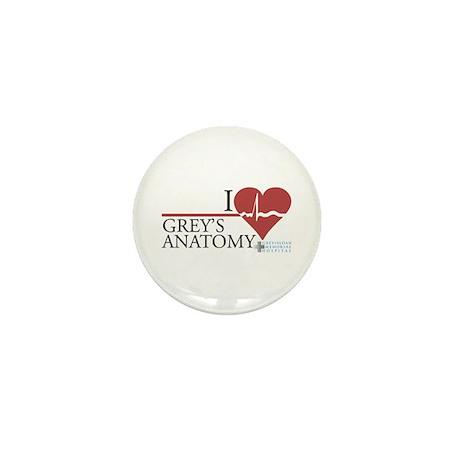 I Heart Grey's Anatomy Mini Button