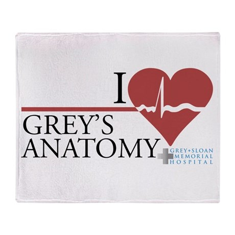 I Heart Grey's Anatomy Stadium Blanket