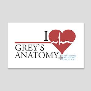 I Heart Grey's Anatomy 22x14 Wall Peel