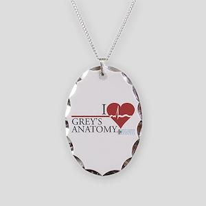 I Heart Grey's Anatomy Necklace Oval Charm