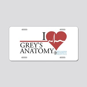 I Heart Grey's Anatomy Aluminum License Plate