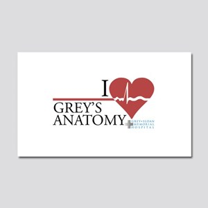 I Heart Grey's Anatomy Car Magnet 20 x 12