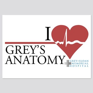 I Heart Grey's Anatomy 5x7 Flat Cards