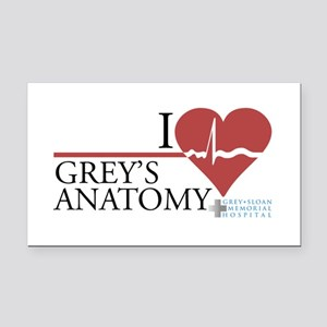 I Heart Grey's Anatomy Rectangle Car Magnet