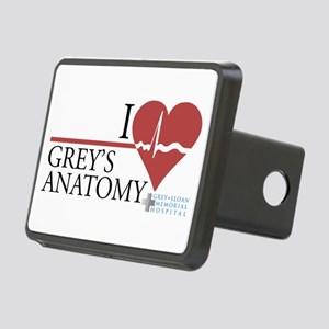 I Heart Grey's Anatomy Rectangular Hitch Cover