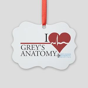 I Heart Grey's Anatomy Picture Ornament
