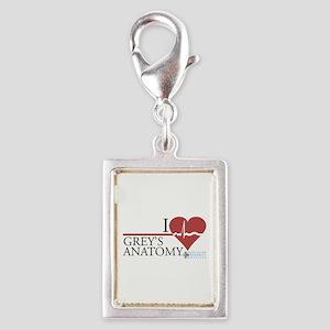 I Heart Grey's Anatomy Silver Portrait Charm
