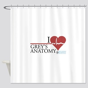 I Heart Grey's Anatomy Shower Curtain
