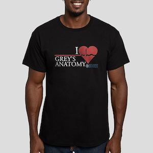 I Heart Grey's Anatomy Men's Dark Fitted T-Shirt