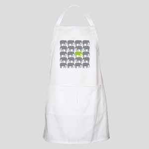 One Green Elephant in the Herd Apron