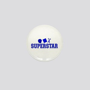 Rock Paper Scissors Superstar Mini Button
