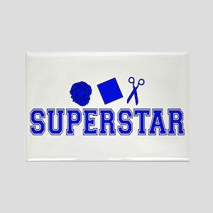 Rock Paper Scissors Superstar Rectangle Magnet