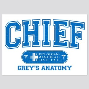 Grey's Anatomy Chief 5x7 Flat Cards
