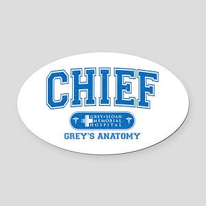 Grey's Anatomy Chief Oval Car Magnet