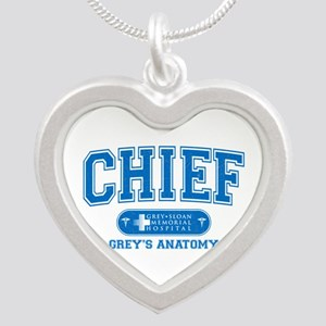Grey's Anatomy Chief Silver Heart Necklace