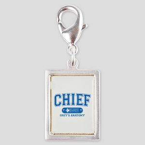 Grey's Anatomy Chief Silver Portrait Charm