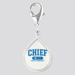 Grey's Anatomy Chief Silver Teardrop Charm