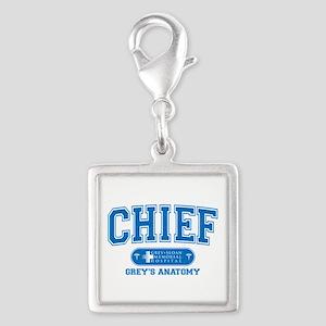 Grey's Anatomy Chief Silver Square Charm