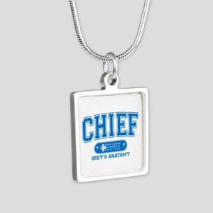 Grey's Anatomy Chief Silver Square Necklace