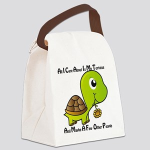 All I Care About is My Tortoise Canvas Lunch Bag