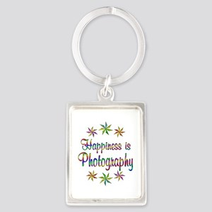Happiness is Photography Portrait Keychain