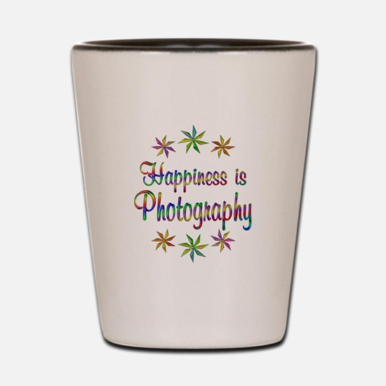 Happiness is Photography Shot Glass