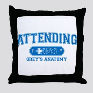 Grey's Anatomy Attending Throw Pillow