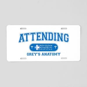 Grey's Anatomy Attending Aluminum License Plate