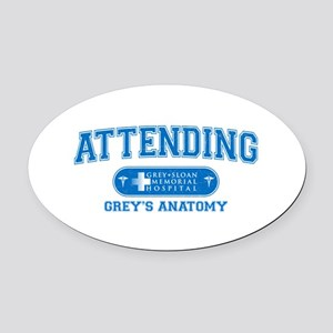 Grey's Anatomy Attending Oval Car Magnet