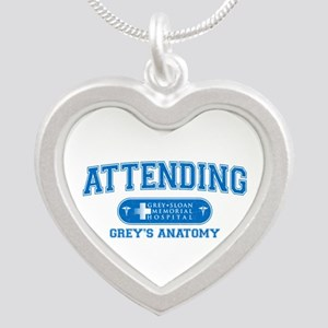 Grey's Anatomy Attending Silver Heart Necklace