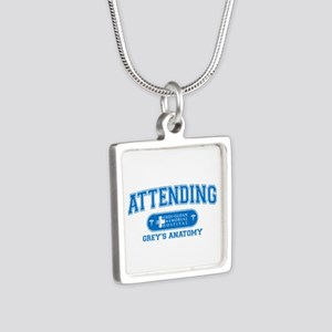 Grey's Anatomy Attending Silver Square Necklace