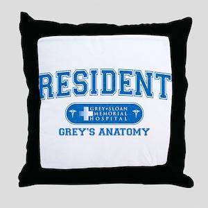 Grey's Anatomy Resident Throw Pillow