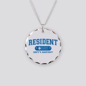 Grey's Anatomy Resident Necklace Circle Charm