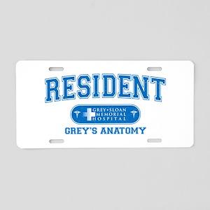 Grey's Anatomy Resident Aluminum License Plate