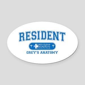 Grey's Anatomy Resident Oval Car Magnet