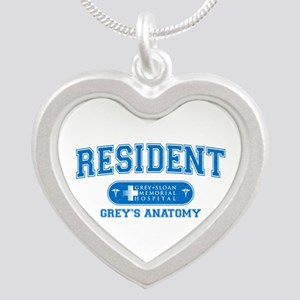 Grey's Anatomy Resident Silver Heart Necklace
