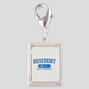 Grey's Anatomy Resident Silver Portrait Charm