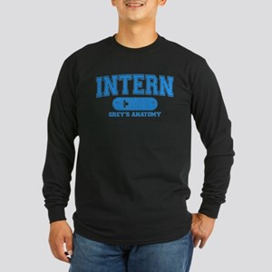 Grey's Anatomy Intern Long Sleeve Dark T-Shirt