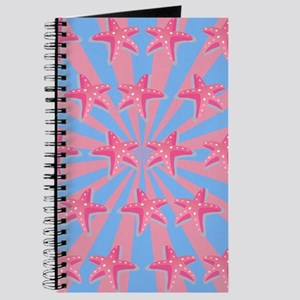 Girly pink starfish Journal