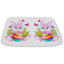 Pink Easter Bunny Bathmat