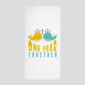 1st Anniversary Gift For Her Beach Towel